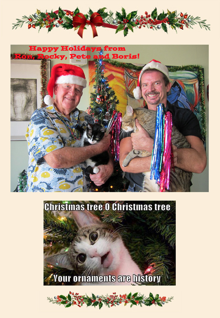 Ron-n-Pete-Happy Holidays 2015-cats